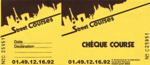 Chéquier Street Courses